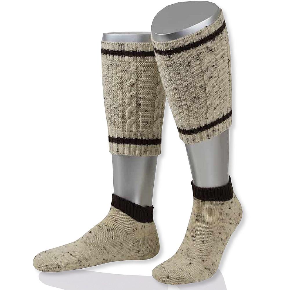 Loferl 2-teilig Zopf natur-mel//braun Wadenwärmer Tracht Trachten Socken Strümpfe
